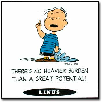 Peanuts wallpaper containing anime entitled Peanuts Quotes - Linus