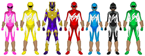 The Power Rangers karatasi la kupamba ukuta entitled Power Rangers Aqua Surge