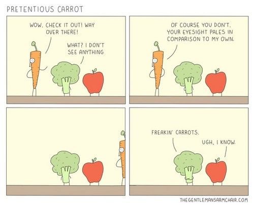 Science 壁纸 entitled Pretentious Carrot.
