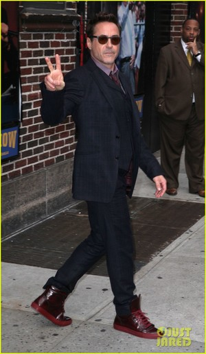 RDJ @ The Late Show with David Letterman
