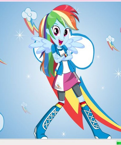 Rainbow Dash Human Equestria Girls Dress