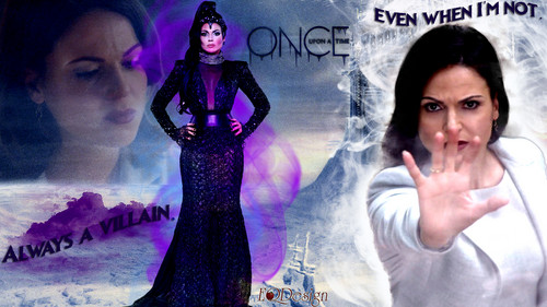 C'era una volta wallpaper containing a cena dress entitled Regina - The Evil Queen