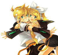 Rin and Len smile