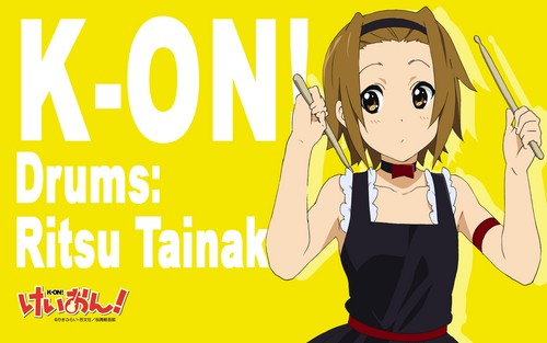 Tainaka Ritsu wallpaper with anime titled Ritsu Tainaka