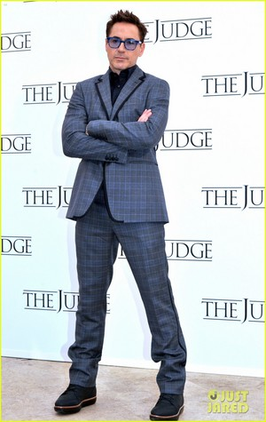 Robert Downey Jr. flashes a smile while posing at a photo call for  'The Judge' in Rome