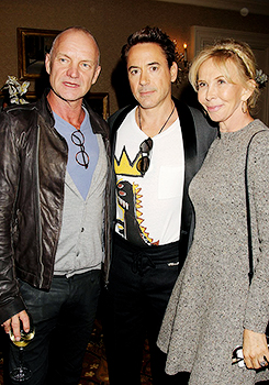 Robert Downey Jr with Sting, Trudie Styler and Robert Duvall @ 'The Judge' NY screening