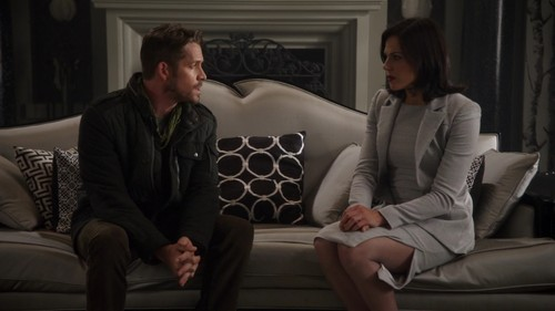 Robin cappuccio and Regina wallpaper containing a business suit, a well dressed person, and a living room entitled Robin and Regina
