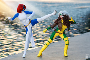 Rogue and Mystique Cosplay