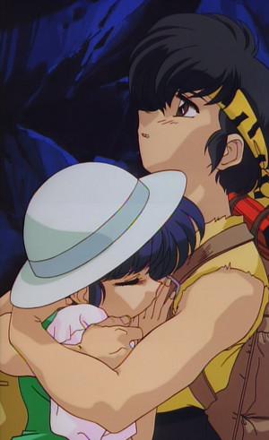 Ryoga holding Akane らんま½ (란마 ½)