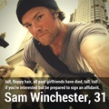 Sam Winchester | Dating 个人资料