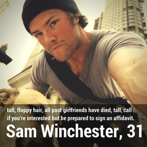 Sam Winchester | Dating پروفائل