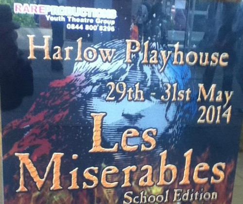 Les Miserables wolpeyper with a sign and anime called School Edition of les miz