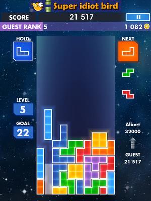 seconde Gameplay for Teris