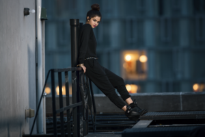Selena at her 2014 Fall/Winter Adidas NEO Label collection photoshoot