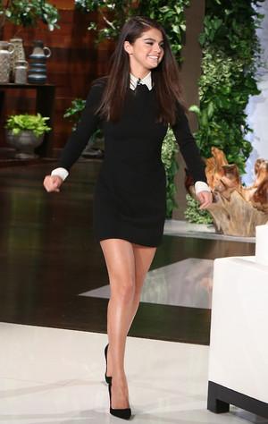 Selena on The Ellen ipakita (filmed on October 10)