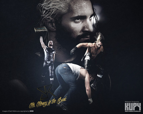 WWE wallpaper possibly containing a concert entitled Shield Aftermath: Seth Rollins