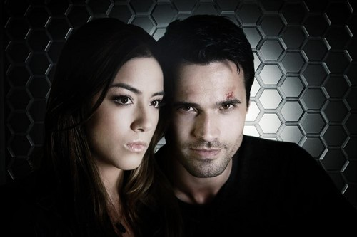 coppie della TV wallpaper containing a chainlink fence and a portrait titled Skye and Grant Ward