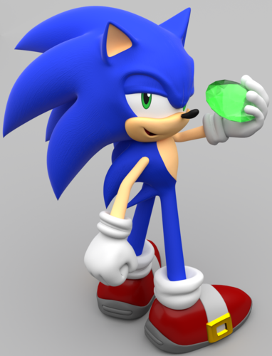 Sonic the Hedgehog achtergrond entitled Sonic smaragd, emerald