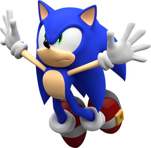 Ёж Соник Обои entitled Sonic Jumping