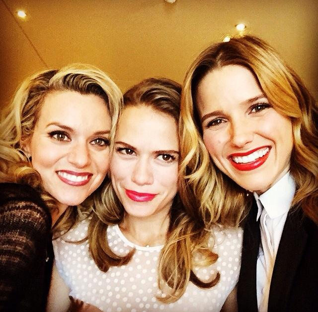Sophia Bush, Hilarie полиспаст, бертон and Bethany Joy Lenz reunite in Paris, October 18th 2014.