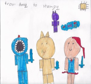 Stampy and Friends par Amy age 6