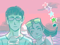 Summer Spock And Uhura Color - spock-and-uhura fan art