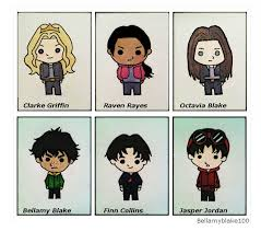 The 100 wallpaper titled The 100 characters