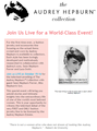 The Audrey Hepburn Collection to Debut on HSN! - audrey-hepburn photo