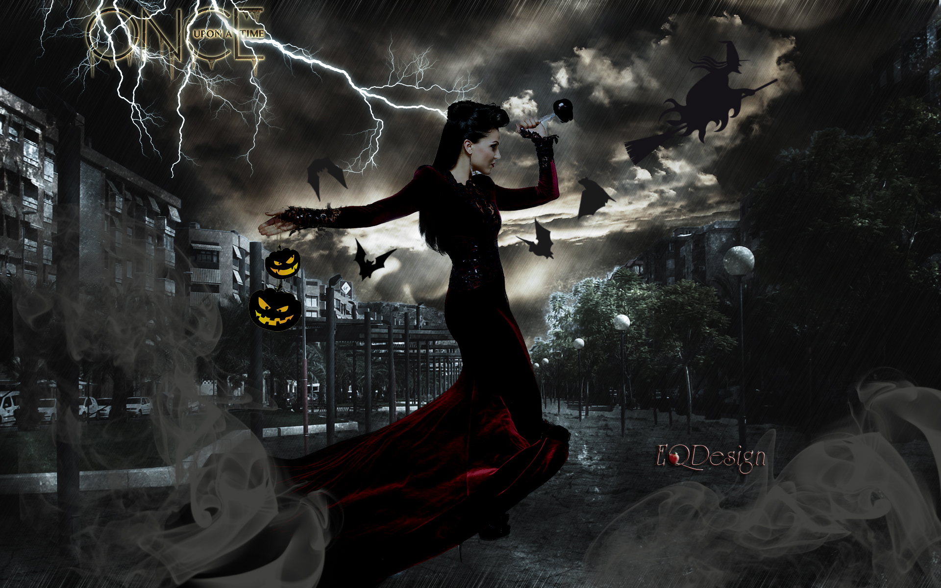 Once Upon A Time Wallpaper Possibly With Fonte Entitled The Evil Queen