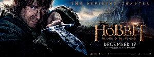 The Hobbit: The Battle Of The Five Armies - Bilbo Baggins and Sting Banner
