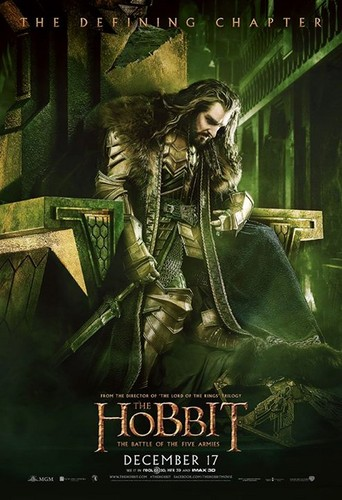 द हॉबिट वॉलपेपर with ऐनीमे called The Hobbit: The Battle Of The Five Armies - Poster of the King Under the Mountain