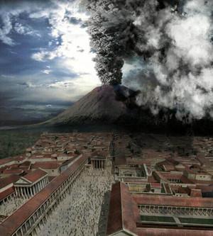 The núi lửa Erupting