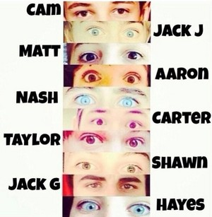 The boys beautiful eyes