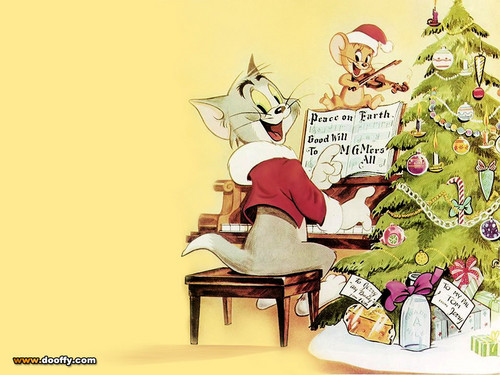 Tom and Jerry wallpaper possibly with anime called Tom and Jerry Christmas