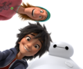 Transparent Fred, Hiro and Baymax