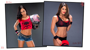 Unseen Diva चित्रो - AJ Lee and Nikki Bella