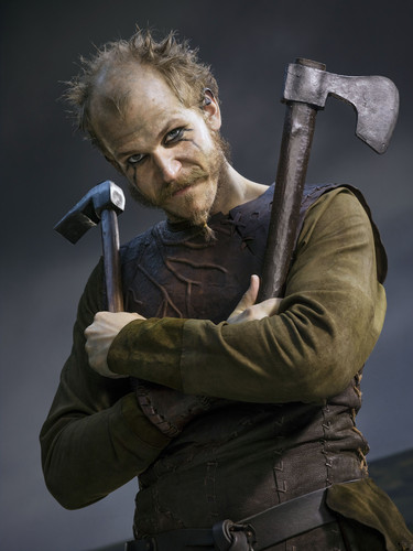 vikingos (serie de televisión) wallpaper with a carpenter's hammer, a hatchet, and a tomahawk titled Vikings Season 2 Floki official picture