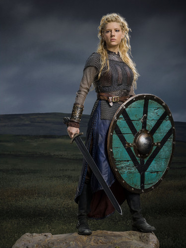 vikings (serial tv) wallpaper possibly containing a shield titled Vikings Season 2 Lagertha official picture