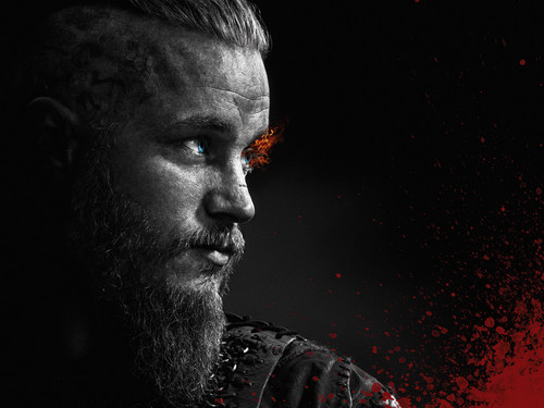 vikings (serial tv) wallpaper with a air mancur called Vikings Season 2 Ragnar Lothbrok official picture