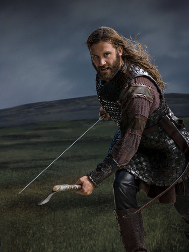 Vikings (TV Series) پیپر وال probably with a surcoat, سورکوت and a tabard, تکمہ titled Vikings Season 2 Rollo official picture