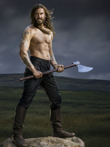 Vikings (TV Series) wallpaper probably with a pick, a spatula, and a tomahawk called Vikings Season 2 Rollo official picture