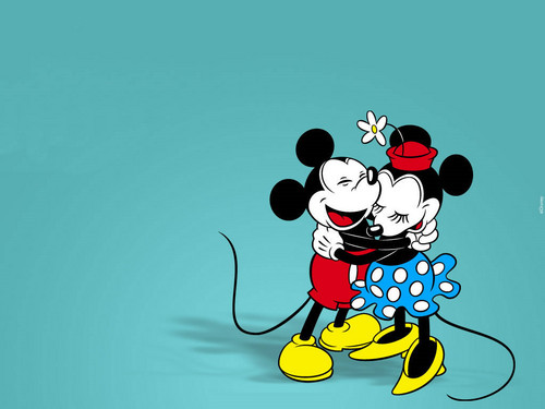 Mickey And Friends Wallpaper Possibly Containing Anime Titled Vintage Minnie
