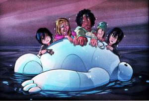 Walt Disney Book imej - Go Go Tomago, Honey Lemon, Wasabi, Fred, Hiro Hamada & Baymax