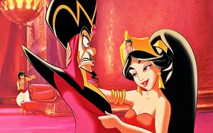 Walt Disney Book Images - Prince Aladdin, Jafar & Princess Jasmine