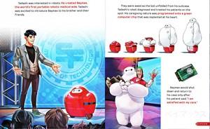 Walt Disney Book picha - Tadashi Hamada, Baymax & Fred