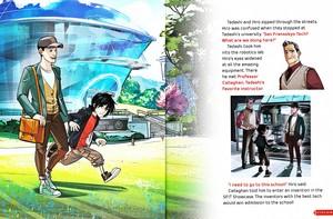 Walt डिज़्नी Book तस्वीरें - Tadashi Hamada, Hiro Hamada & Professor Robert Callaghan