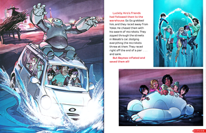 Walt Disney Book Images - Yokai, Baymax, Honey Lemon, Hiro Hamada, Fred, Wasabi & Go Go Tomago