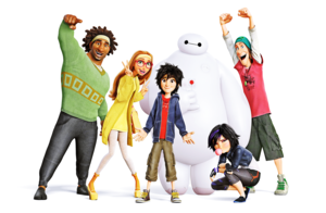 Walt Disney Images - Wasabi, Honey Lemon, Hiro Hamada, Baymax, Go Go Tomago & Fred