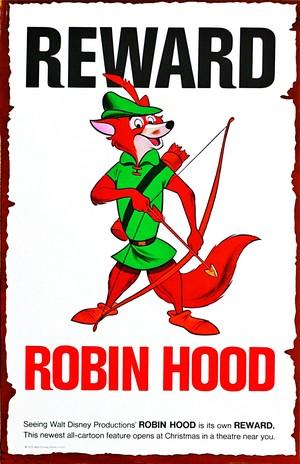 Walt 迪士尼 Posters - Robin 兜帽, 罩, 发动机罩