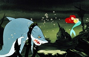 Walt Дисней Production Cels - Glut, Princess Ariel & камбала